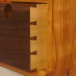 cherry cabinet detail