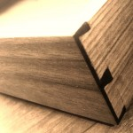 lap desk drawer half blind dovetail detail