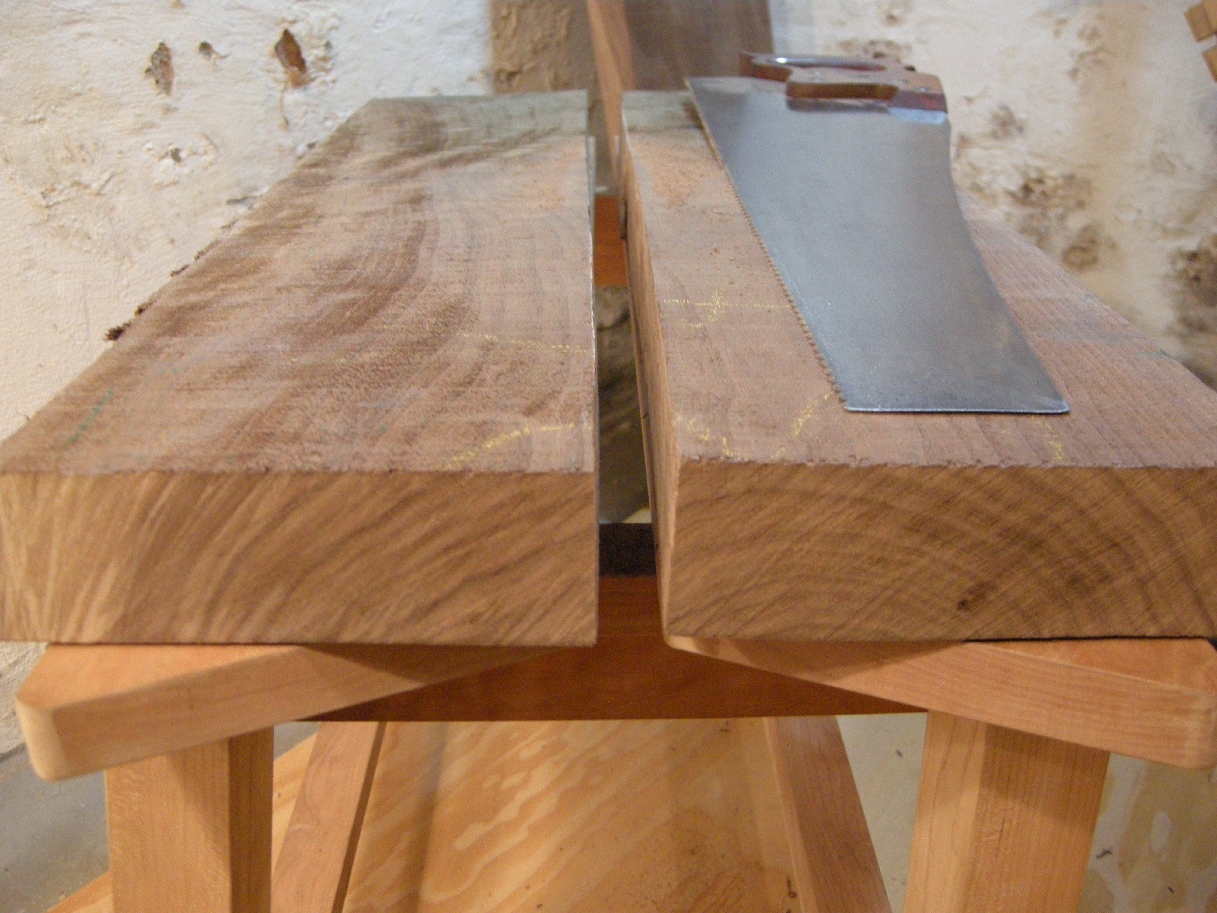 "A cross cut saw that rips a 36"", 2"" thick plank of walnut? Only from Bad Axe Tool Works."