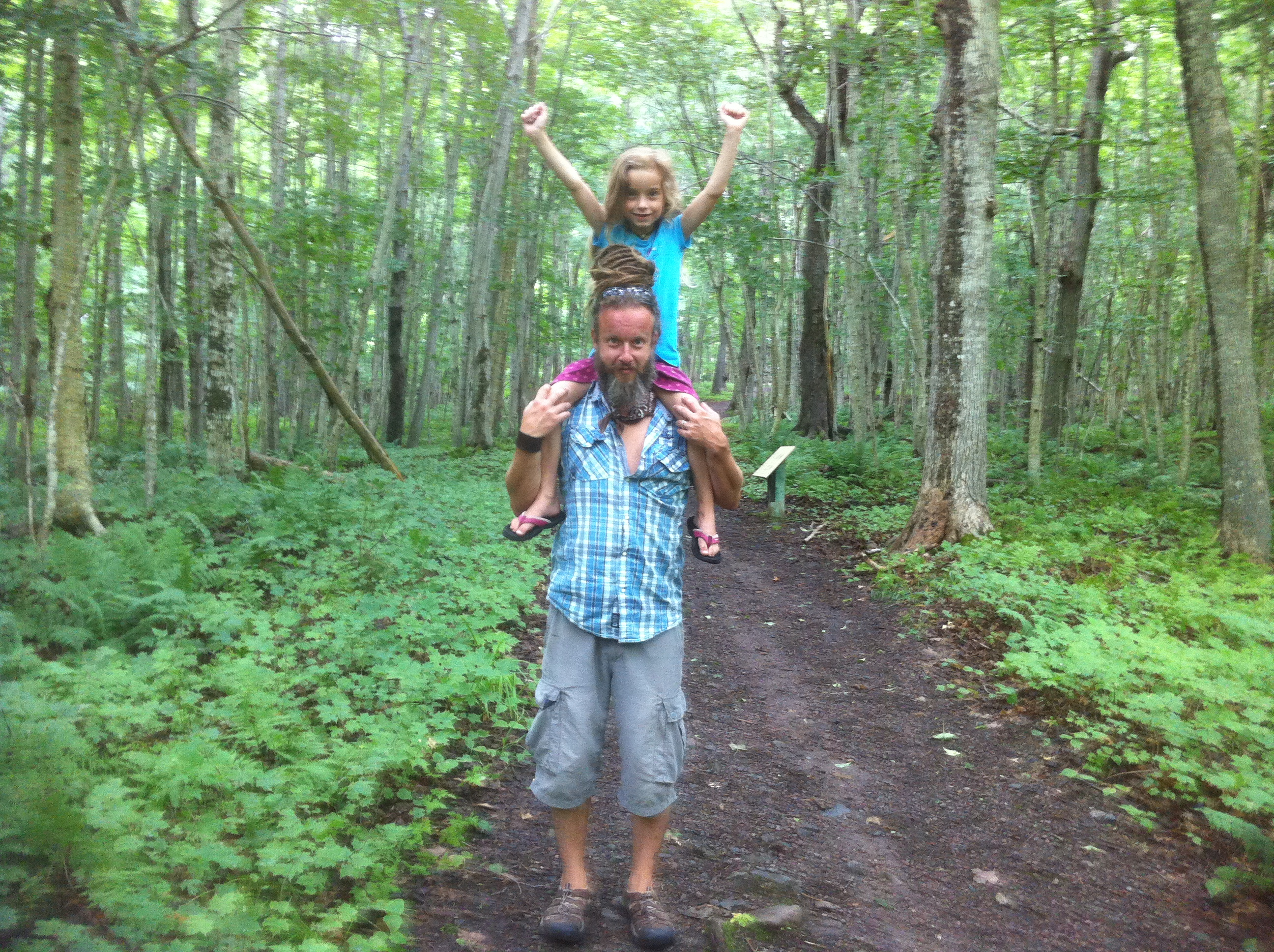 Piper and I in one of the oldest Sugar Maple stands in North America. About an hour North of our home in Cape Breton.