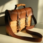 wood and leather laptop case