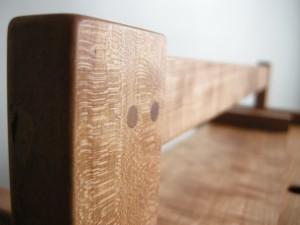 Pinned tenon detail