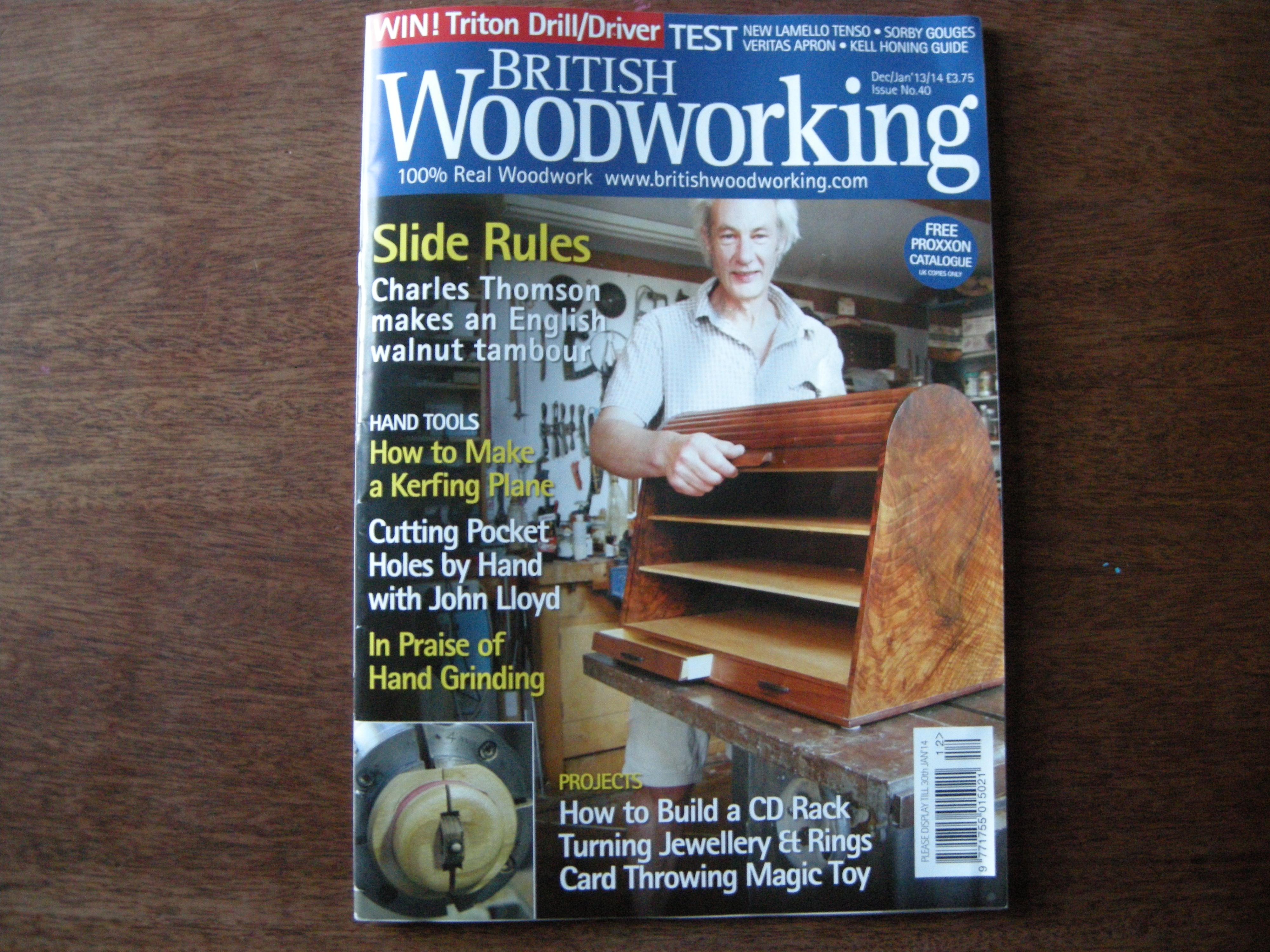 British Woodworking Magazine The Unplugged Woodshop Toronto