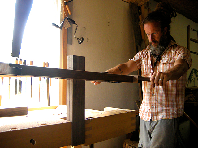 Frame saw, hand sawing, woodworking, hand tools, The Unplugged Woodshop, Tom Fidgen, Made by Hand,