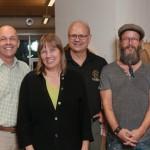 Woodworks 2014. ( from left to right ) Chris Schwarz - Ron Barter - Linda Manzer - Mark Harrell  - Tom Fidgen - Garrett Hack