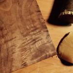 Pollisoir on curly walnut with bees wax