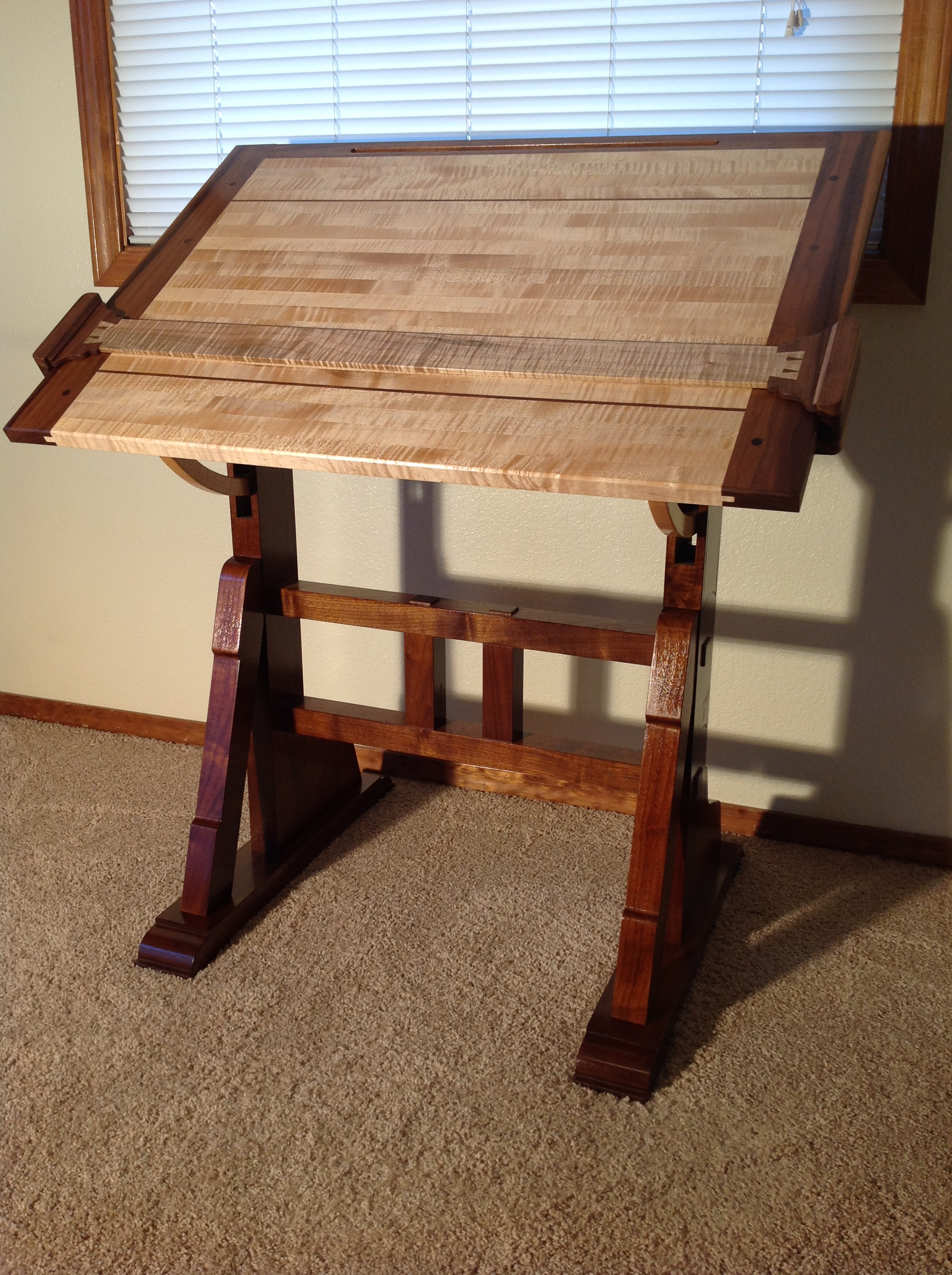 An architect 39 s table in idaho the unplugged woodshop toronto for Diy architectural drawings