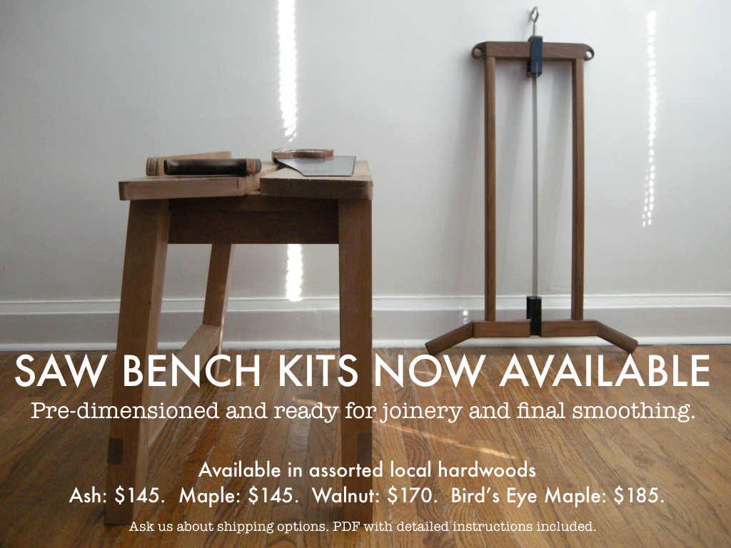 Saw Bench Kits Now Available