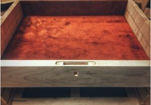 Leather lining inside top toolchest area.