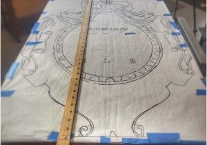 Pattern on parchment paper.