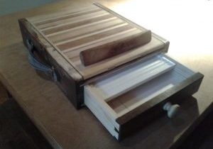 Pochade Box showing drawer and pencil tray.